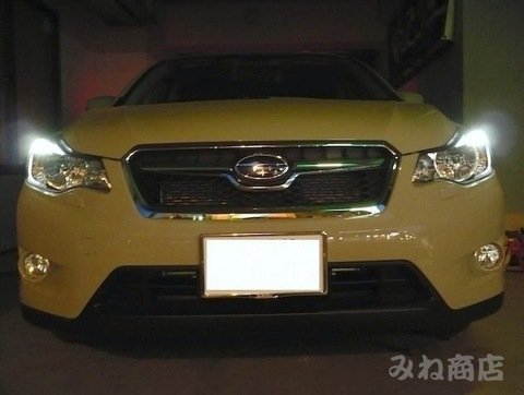 SUBARU XVのポジションランプを激渋LED(SMD)に!! スバルXV(GP7)/平成25年~