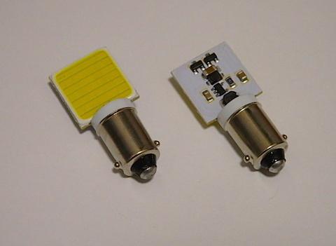 BA9S (G14)180°ピン/2W POWER COB LED (15mm x 16mm) ホワイト/6000K/単品1個