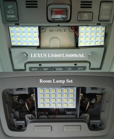 専用設計!!レクサス LED(SMD) F/R ルームランプ!! LEXUS LS460/LS600h/hL