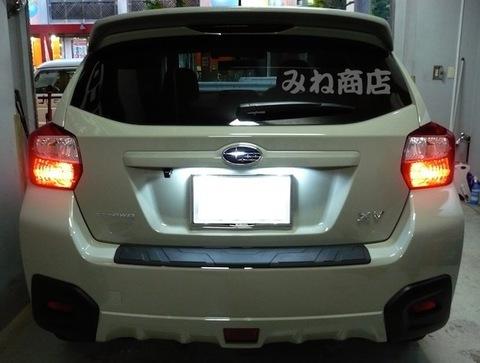 SUBARU XVのナンバー灯を超最新LED(SMD)に!! スバルXV(GP7)/平成25年~