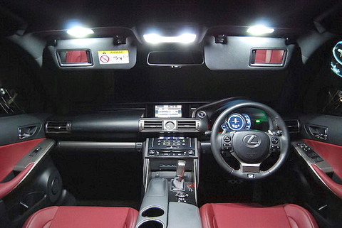 LEXUS IS350/300h/250/200t 専用 2,5W POWER COB LED ルームランプセット GSE3#/AVE3#/ASE30
