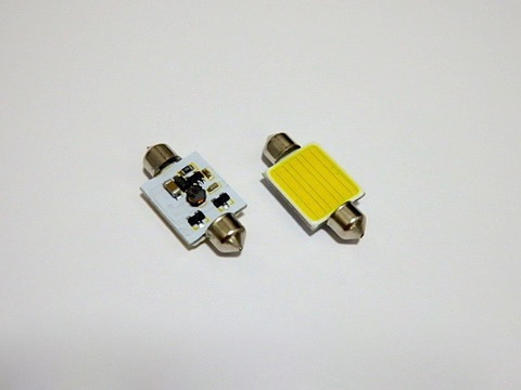 T8×28mm/1,5W POWER COB LED (15mm x 13mm) ホワイト/6000K/単品 1個