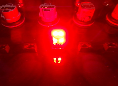 T10/Epistar 3030 Power LED/250LM/レッド(赤)2個セット [T10最強の光束]