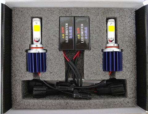 LEDフォグランプ/HIGH LUMEN POWER COB LED FOG LAMP KIT/2200lm (2800K/ゴールドイエロー) HB4 (9006)