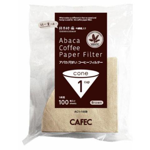 アバカ 円すい コーヒー フィルター 1杯用 (100枚入 )茶色 三洋産業