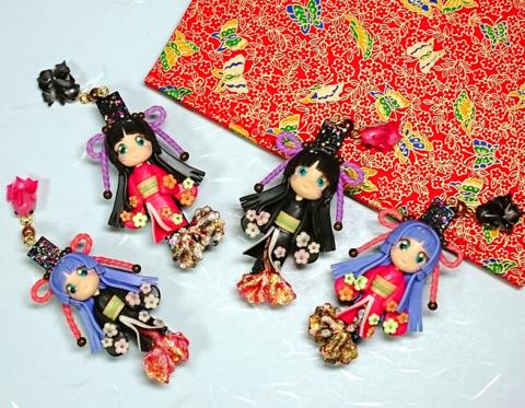 金魚姫&ミニ金魚ちゃんのキラキラクリップ