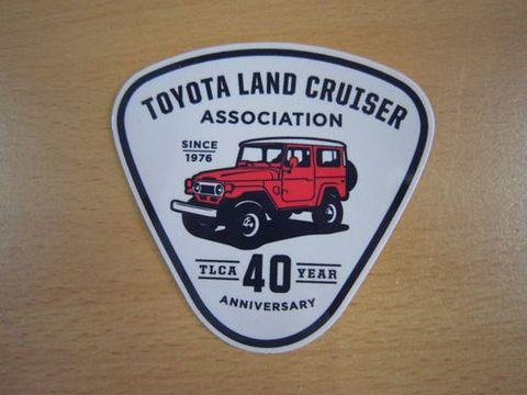 TLCA40周年記念 ランクル40 フリーボーンレッドステッカー 新品