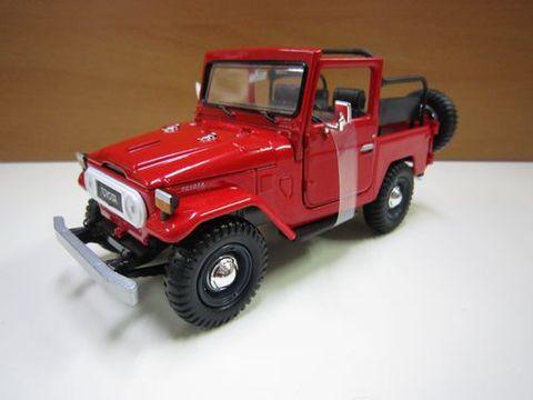 ランクルFJ40赤 オープン 1/24 ダイキャスト 新品