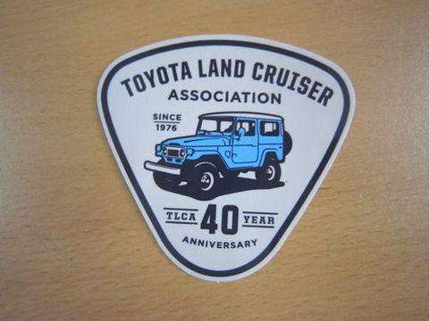 TLCA40周年記念 ランクル40 ロイヤルブルー ステッカー 新品