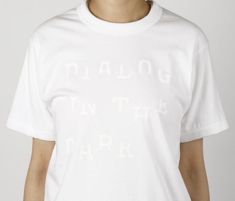 DIALOG IN THE DARK Tシャツ (白×白)