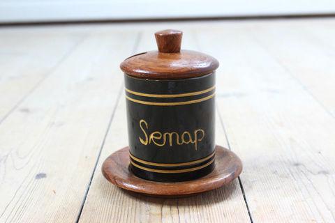 スパイスポット/Senap(マスタード)ふた、ソーサー付き