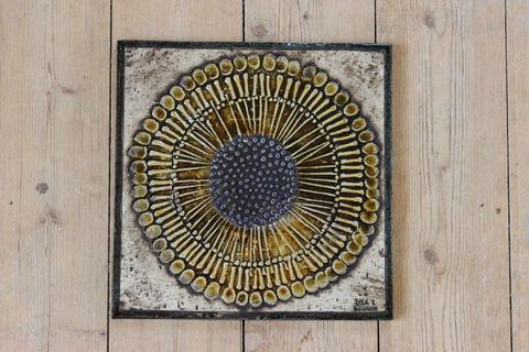 Lisa Larson(リサラーソン)/UNIK/Solros ひまわりの陶板