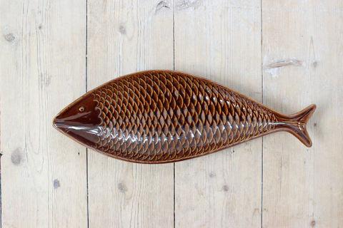 GUSTAVSBERG(グスタフスベリ)Stig Lindgergのお魚プレート(ブラウン)2