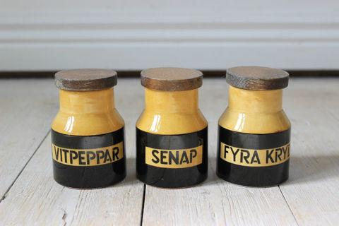 スパイスポットセット(FYRA KRYDDOR,SENAP,VITPEPPAR)