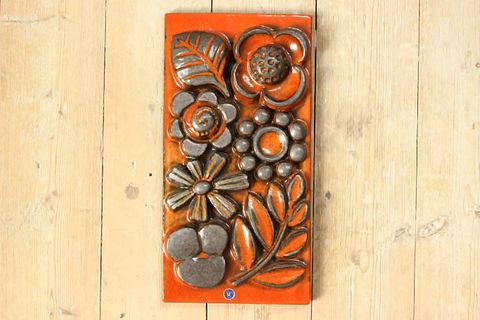 Upsala Ekeby(ウプサラエクビー)ベリット・ターナーのお花の陶板