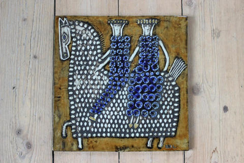 Lisa Larson(リサラーソン)/UNIK/ Ryttare 騎手の陶板