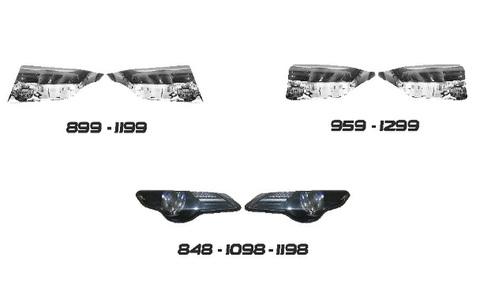 パニガーレ/848/1098 ヘッドライト ステッカー