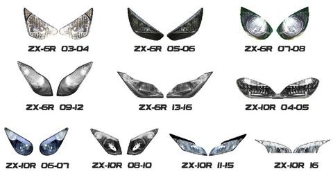 ZX10R/ZX6R ヘッドライト ステッカー