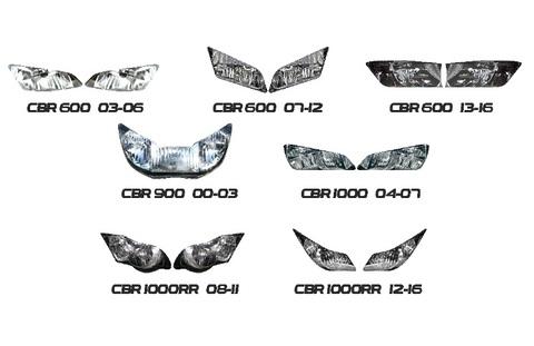 CBR 600/900/1000 RR ヘッドライト ステッカー