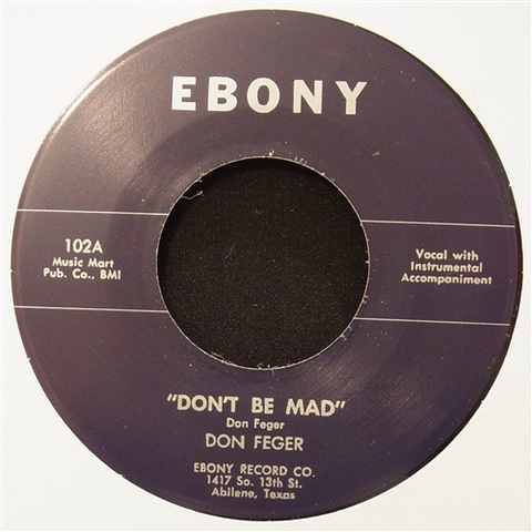 """DON FEGER / DON'T BE MAD (7"""")"""