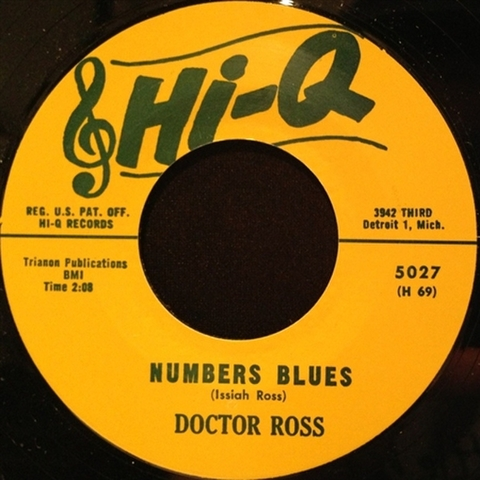 """DOCTOR ROSS / NUMBER BLUES (7"""")"""