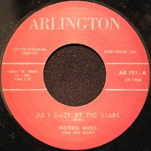 """NORRIS MIMS / AS I GAZE AT THE STARS (7"""")"""