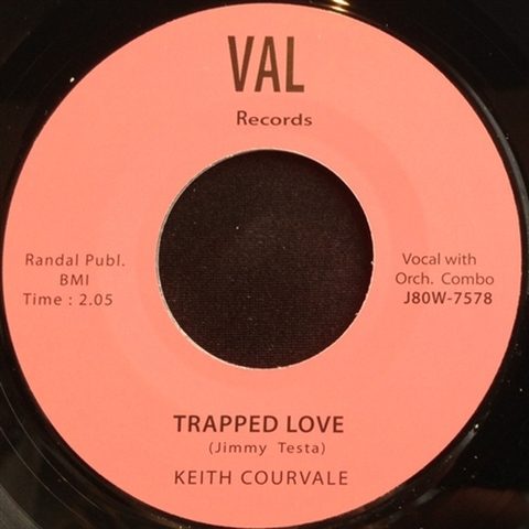 """KEITH COURVALE / TRAPPED LOVE (7"""")"""