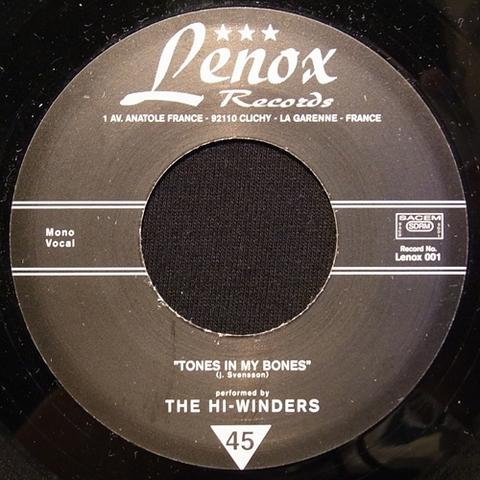 """HI-WINDERS / TONES IN MY BONES (7"""")"""