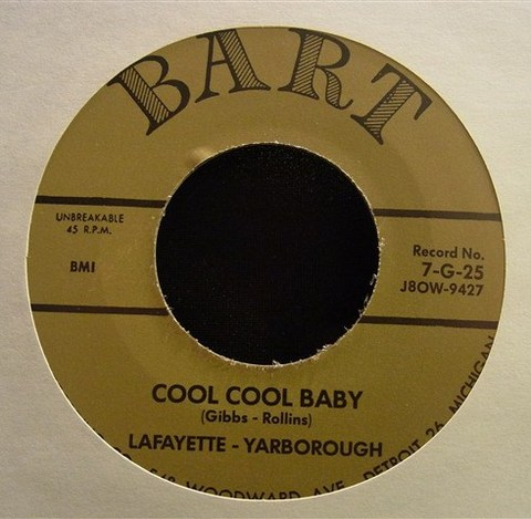 """LAFAYETTE YARBOROUGH / COOL COOL BABY (7"""")"""