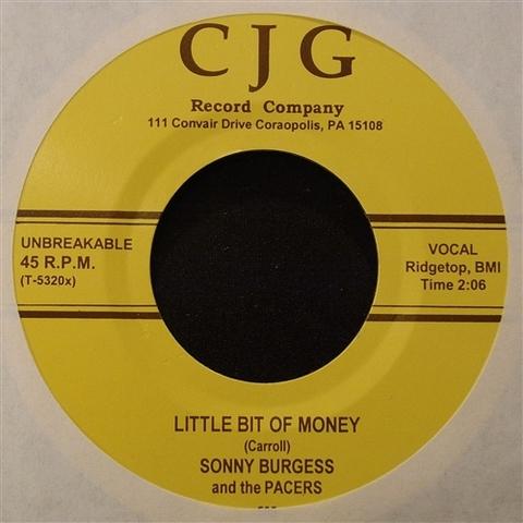 """SONNY BURGESS / LITTLE BIT OF MONEY (7"""")"""