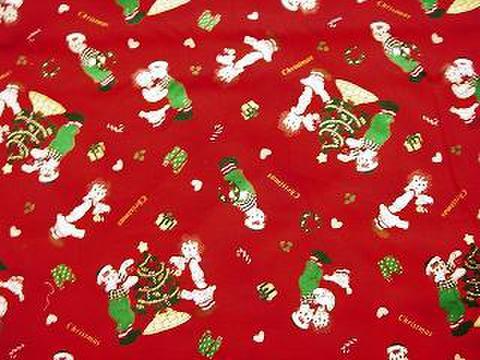 ラガディ布 クリスマスツリー レッド