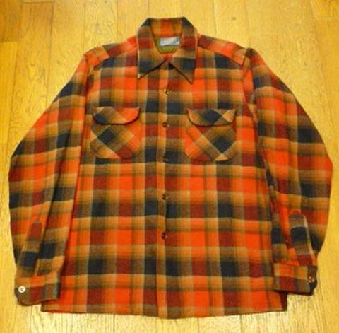 PENDLETONのウールチェックシャツ (M)