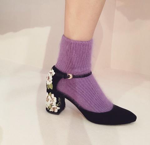 Angora Rib Socks