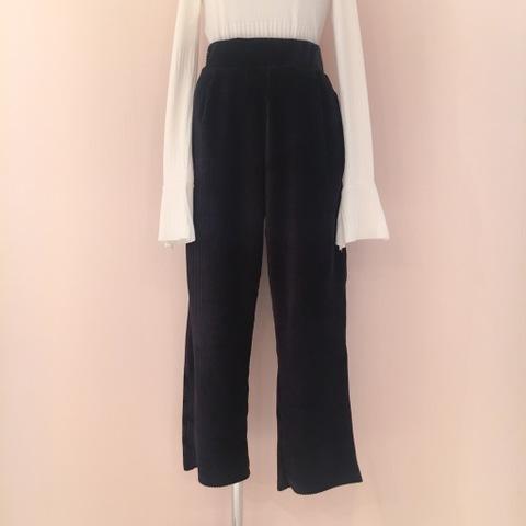 High-waisted Velvet Trousers