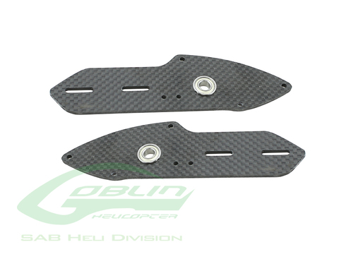 H0494-S - Carbon Fiber Tail Side Plate Set - Urukay Competition