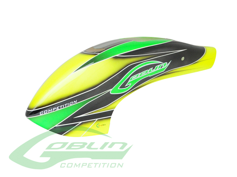 Canomod Airbrush Canopy Yellow/Green - Goblin 700/770 Competition [H0357-S]