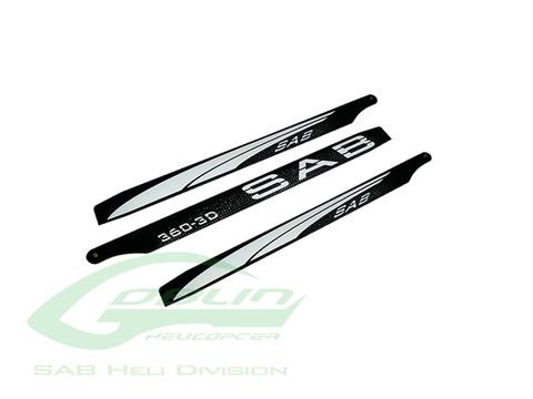 Black Line Carbon Fiber Main Blades 360mm - Goblin 380 KSE