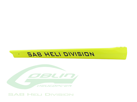 H0622-S - Carbon Fiber Tail Boom Yellow - Goblin 500 Sport