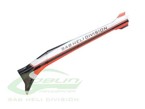 H0724-S - Carbon Fiber Tail Boom Silver/Carbon - Goblin Urukay Carbon