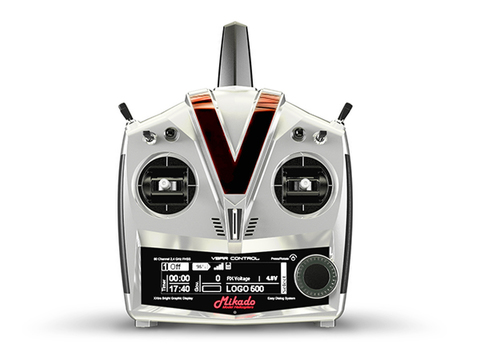 VBar Control Radio with RX-Satellite, bright silver