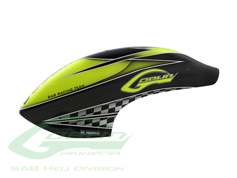 Canomod Airbrush Canopy SAB Yellow/Carbon - Goblin 700 Competition [H9040-S]