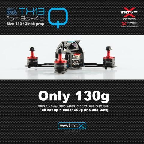 AstroX TX13Q /Xnova アンダ-200g 日本限定コンボ仕様  双葉受信機 ULTRA450mAh3Sリポ2個 セット