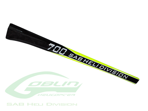 Carbon Fiber Tail Boom SAB Yellow/Carbon - Goblin 700 Competition/Speed [H9045-S]
