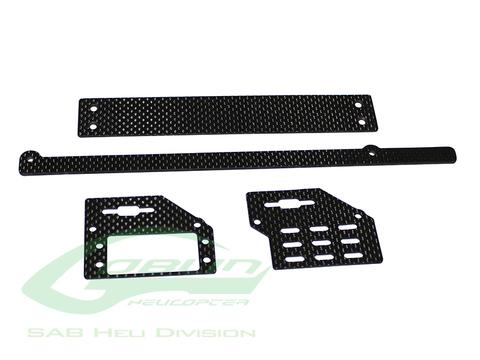 H0690-S - Carbon Fiber Support Set - Goblin Black Nitro