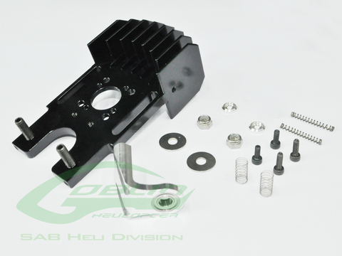 H0316-S Aluminum Cooling Motor Mount With Third Bearing-Goblin630/700/770Competition