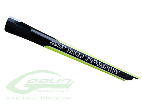 H0815-S - Carbon Fiber Tail Boom Yellow/Black - Goblin 420 Sport