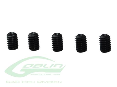 HC153-S - DIN 12.9 Cup Point Set Screws M4 x 6 (5pcs) - Goblin 770/Goblin 630/700 Competition
