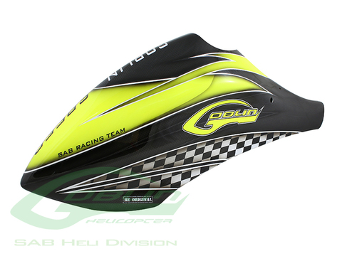 Canomod Airbrush Canopy SAB Yellow/Carbon - Goblin Speed [H9041-S]