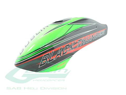 H0763-S - Canomod Airbrush Canopy Green/Carbon - Goblin Black Thunder 700