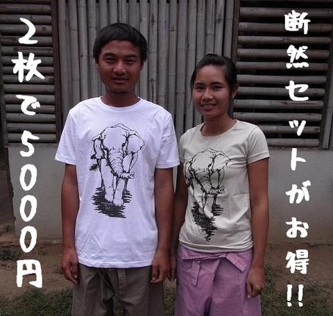 象Tシャツ/2枚セット